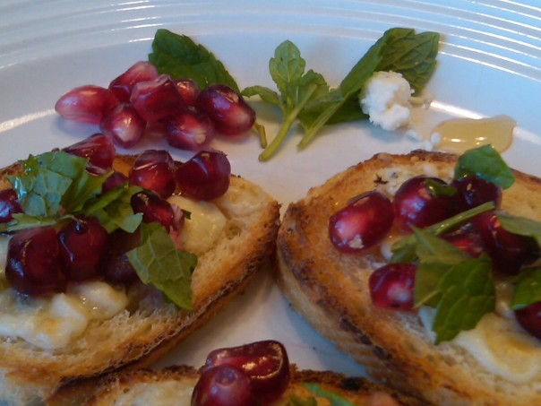 Pomegranate Bruschetta 1 - By Nicci Morris