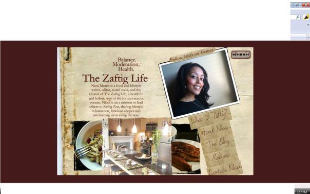 TheZaftigLife.com - Screenshot